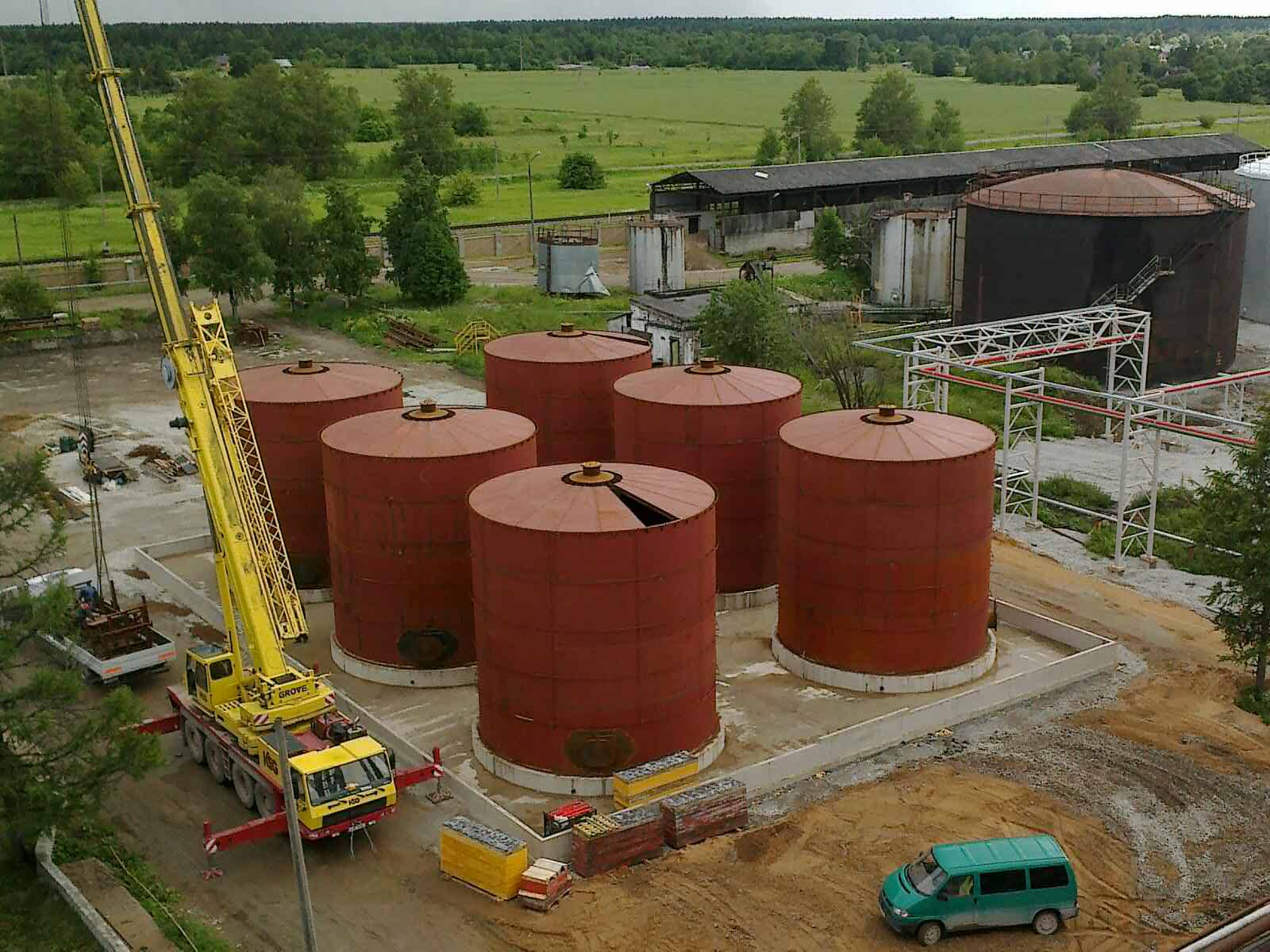2013 Kiviõli shale oil tank farm II development.